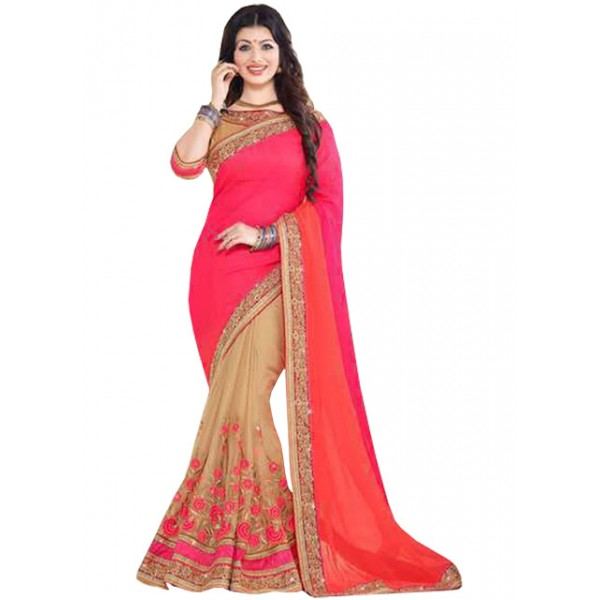 Kreckon Ayesha Takia Multi Color Chiffon With Jacquard Replica Saree
