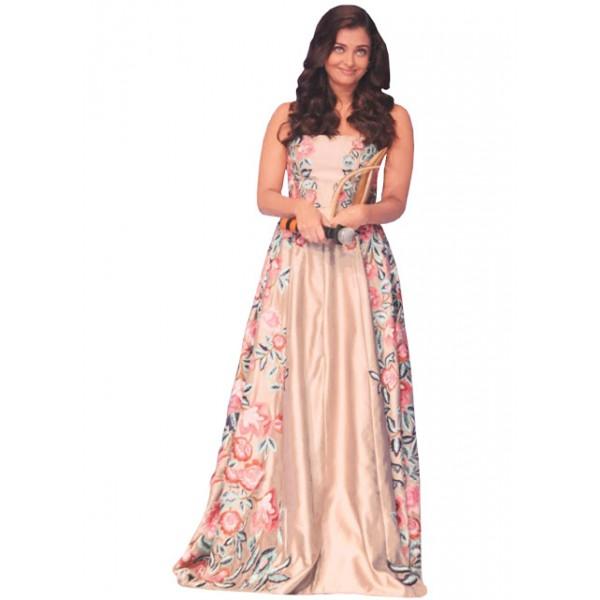 Kreckon Aishwariya Rai Light Pink Banglori Silk Gown