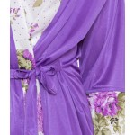 American-Elm Women Sexy 2Pc Floral Printed Robes Nighty