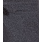 American-Elm Women Dark Grey Plain casual Slim Fit Short Capris